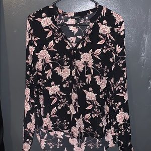 Black and floral blouse shirt, worn once